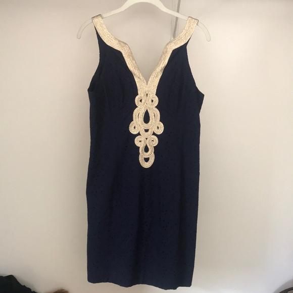 3c3b63f1f855e9 Lilly Pulitzer Dresses   Nwt Navy Blue Emery Shift Dress   Poshmark